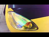 Тонировка фар хамелеон желтый 100х30 см