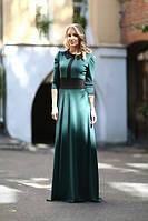 Женское платье с воротником, трикотаж