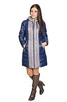 Зимняя куртка женская Алена (синий/серый), фото 1