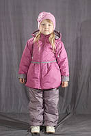 Демисезонный комбинезон для девочки на флисе Фиолетовый