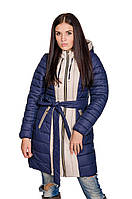 Зимняя куртка женская Алена (синий/беж)