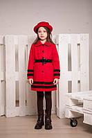 Демисезонное пальто из турецкого кашемира для девочки, размеры 30, 32, 34, 36. (арт.К-65/1)