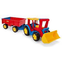 Трактор с прицепом и ковшом Wader Gigant Truck 66300