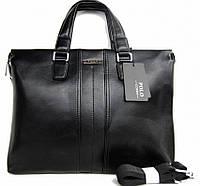 Стильная мужская сумка-портфель Polo. Сумка на одно плечо. Кожаная сумка. Интернет магазин. Код: КСМ207