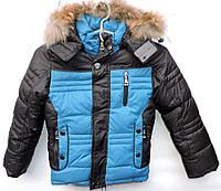 Зимняя куртка для мальчика 5-8 лет модель 2866