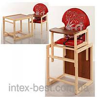 Детский деревянный стульчик для кормления M V-010-21-4