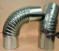 Колено трубы Ø100 мм  90° градусов оцинкованное, вентиляция, дымоходы