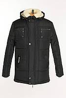Мужская куртка на меху черного цвета.Купить недорого!