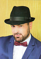 Мужская фетровая шляпа из 100% шерсти