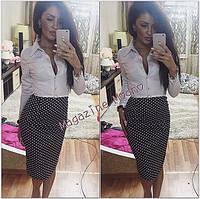 Женское стильное офисное платье (расцветки)
