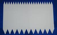 Скребок для крема/теста гребешок узкий (код 01378)