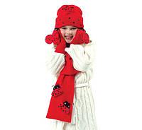 Комплект шапка, шарф и варежки Божья коровка Kidorable (США)