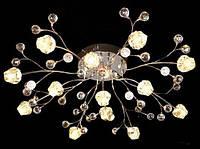 Люстра галогеновая на 13 лампочек с подсветкой и пультом управления