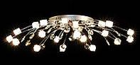 Люстра галогеновая на 21 лампочку с подсветкой и пультом управления для большой комнаты