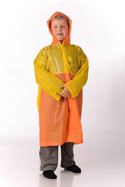 Плащ дождевик детский с местом под ранец , размер L