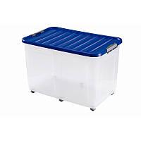 Контейнер для хранения пластиковый на колесах 75 л, 60*40*40 см, Heidrun 1615