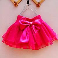 Детская шифоновая юбка с бантом