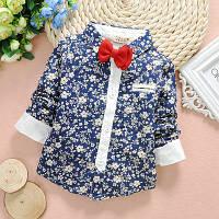 Рубашка для мальчика в цветочек