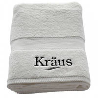 Банное белое махровое полотенце KRAUS Полотенце