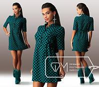 Красивое свободное женское мини платье
