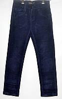 Вельветовые штаны для мальчика 7-12 лет синие модель - 28115
