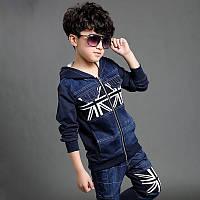 Костюм для мальчика с джинсовыми вставками