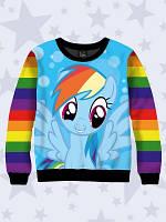 """Детский свитшот с 3D изображением  """" Rainbow Dash """""""