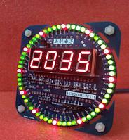 Электронный конструктор, набор для пайки  Электронные часы на светодиодах с будильником