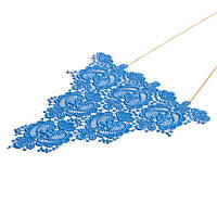 Кружевное синее ожерелье ручной работы