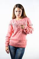 Пуловер джемпер кофточка кофта коралловая размер 48-50 AL8