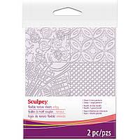 Текстурные коврики Скалпи Sculpey,набор из 2 штук,8 разных текстур, фото 1
