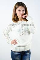 Джемпер пуловер кофточка кофта оригинальная белая размер 48-50 AL9