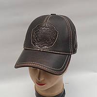 Мужская кожаная кепка с ушами - Модель 29-137