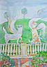 """Картина """"Прогулка в Марли"""" бумага, акварель 2013 г. Размеры: 60х42 см."""