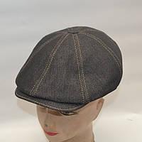 Мужская джинсовая кепка с ушами - Модель 29-150