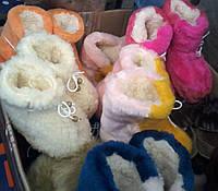 Детские меховые пинетки-валенки девочкам и мальчикам от полугода до взрослого 42 размера S329