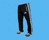 Брюки спортивные Adidas трикотажные, без начёса внутри.Чёрные.3127