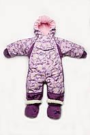 Детский зимний комбинезон-трансформер 4 в 1 для девочки