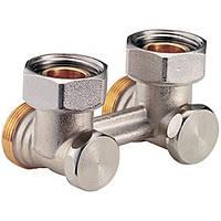 """Прямой никелированный клапан для двухтрубных систем  3/4""""FX3/4""""E (Giacomini)"""