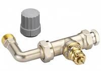 Клапан Danfoss  типа RA-KE с компрессионным фитингом для присоединения трубки (Присоединительный элемент RA-KЕ для однотрубной системы отопления)