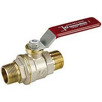 """Полнопроходной шаровой клапан DADO с вн. резьбой, с красным L-р.,никелированный 1/2"""" (Giacomini)"""