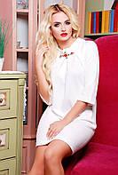 Белое платье свободного покроя ХХL