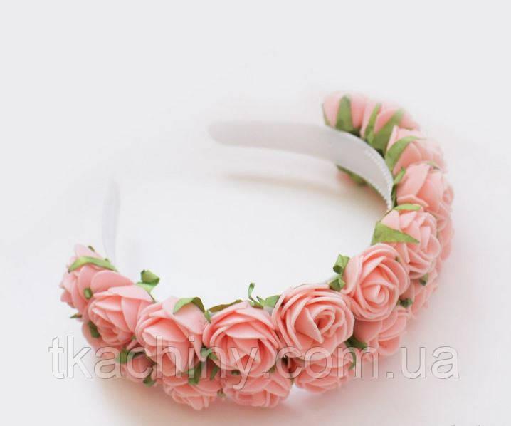 Украшение ободок с цветами и гребешками своими руками пошаговое фото 16