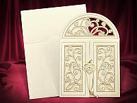 Необычные приглашения на свадьбу цвета айвори, запрошення на весілля