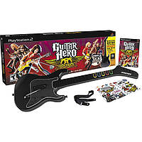 Гитара беспроводная+игра Guitar Hero Aerosmith (PS2)