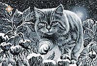 """Схема в круговой зашивке """"Лунный кот"""""""