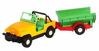 Машинка Джип с прицепом Wader 39007