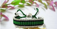 Унисекс плетённый серебряный браслет 925 LINKS London 5 цветов