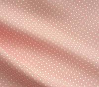 Ткань для домашнего интерьера мелкий горох ,розовый