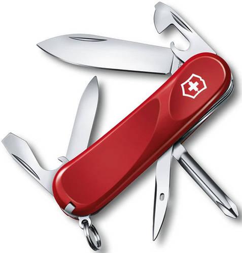 Швейцарский презентабельный складной нож Victorinox Evolution 24803.E красный